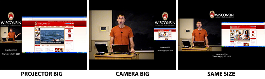 image lecture capture display examples